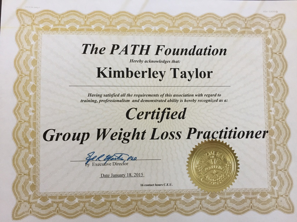 Certified Group Weight Loss Practitioner