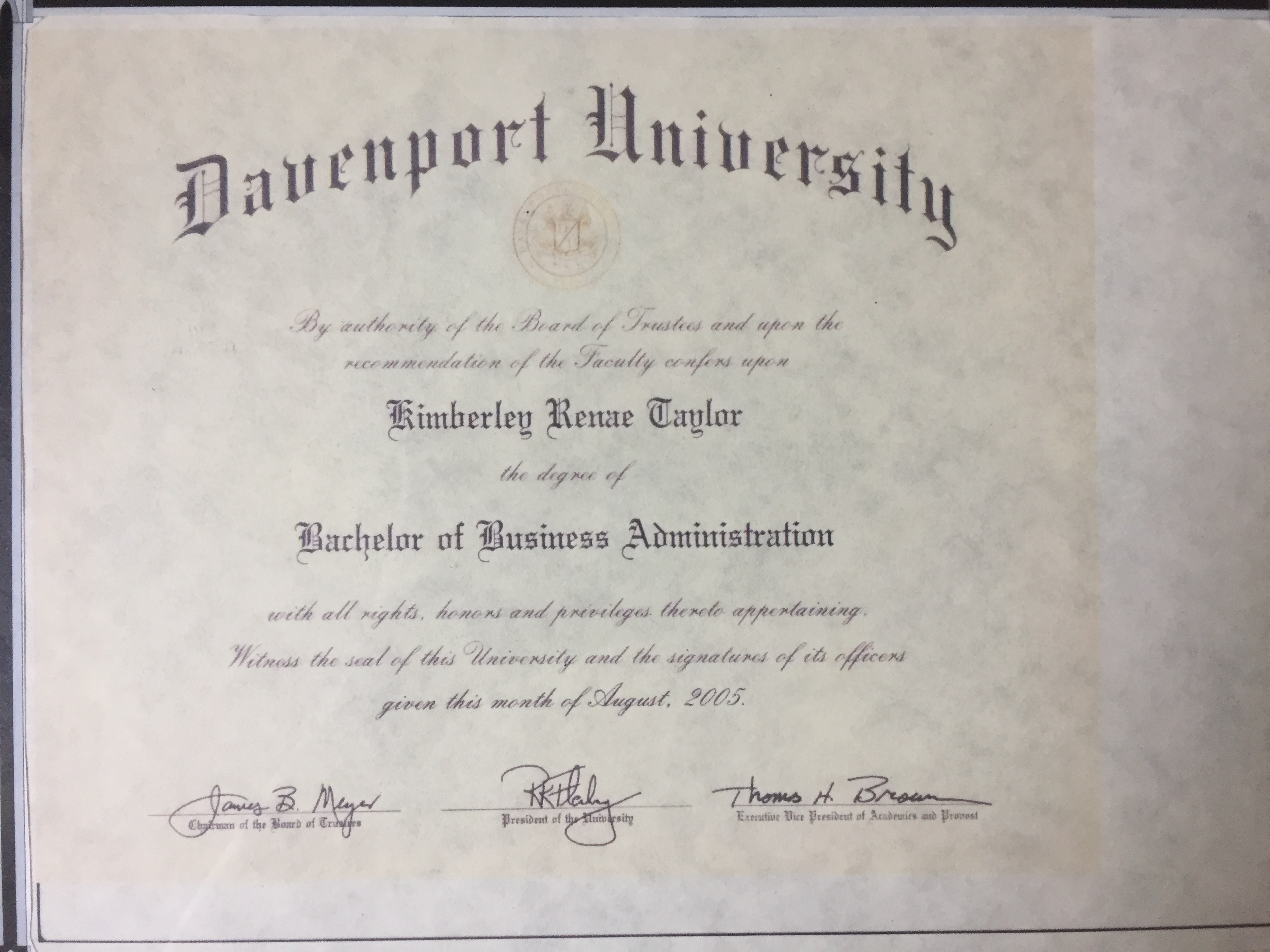 Davenport University BA