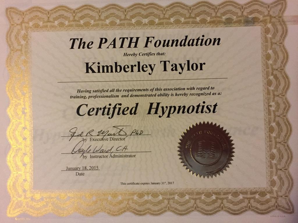 Certified Hypnotist 2015