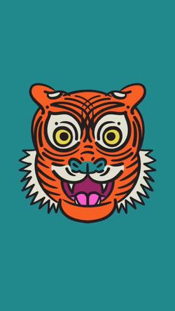 2 Eyed Tiger - Digital Drawing