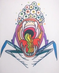 Monster #3 - Hand Drawn Illustration