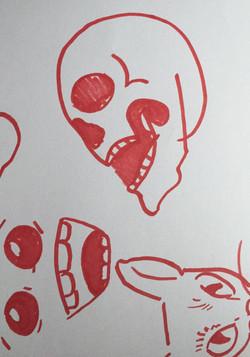 Skull - Untitled - Hand Illustration