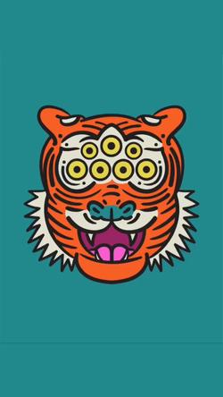 7 Eyed Tiger - Digital Drawing