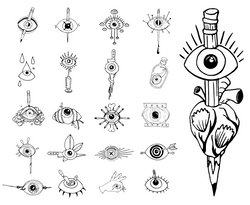 Eyes Contact Sheet