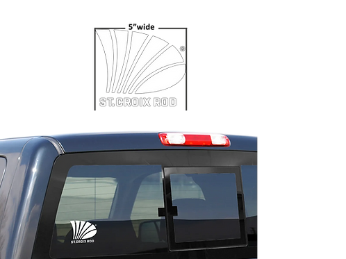 """St.Croix 5"""" White Decal"""