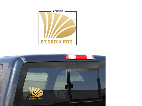 """St.Croix 7"""" Gold Decal"""
