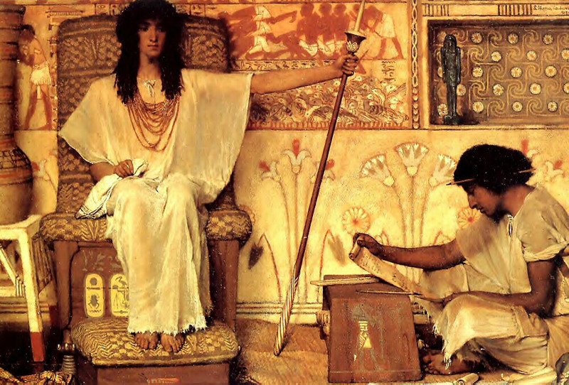 "Lawrence Alma-Tadema, ""Joseph, Overseer of Pharaoh's Granaries"""