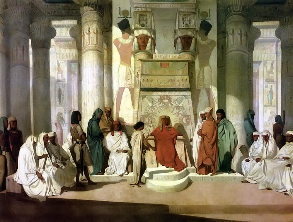 "Jean-Adrien Guignet, ""Joseph Interprets the Dream of Pharaoh"""