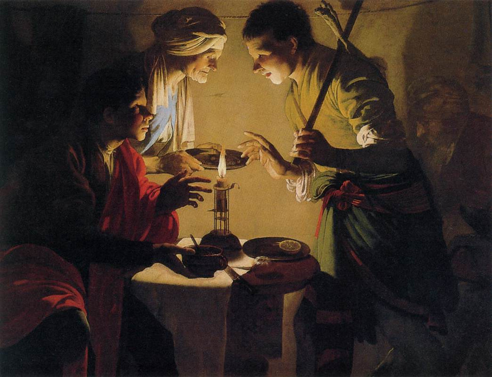 "Hendrick ter Brugghen, ""Esau selling his birthright"""