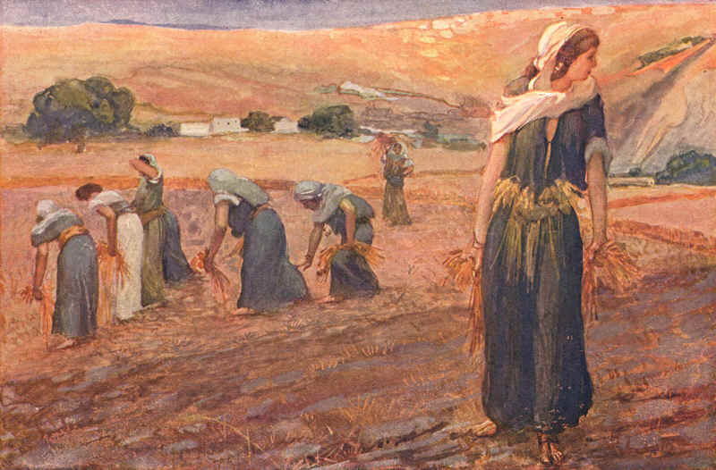 Gleaners (watercolor circa 1900 by James Tissot)