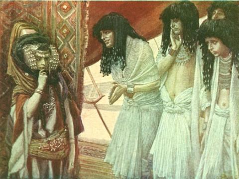 James Tissot, The Egyptians Admire Sarai's Beauty