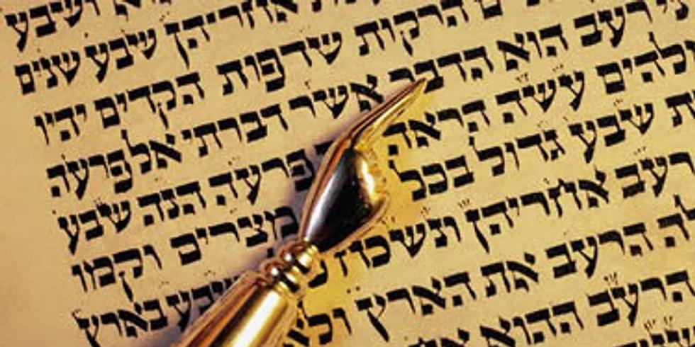 Canceled: Torah Study - Tetzaveh