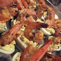 Shrimp Topped Eggs