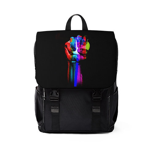 Static Clean. Unisex Casual Shoulder Backpack
