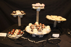 Assorted dessert display