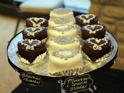 Heart Brownies and Cake Ovals