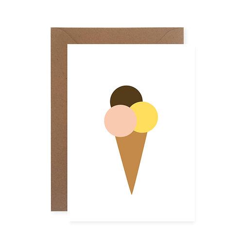 Postkarte - Eis