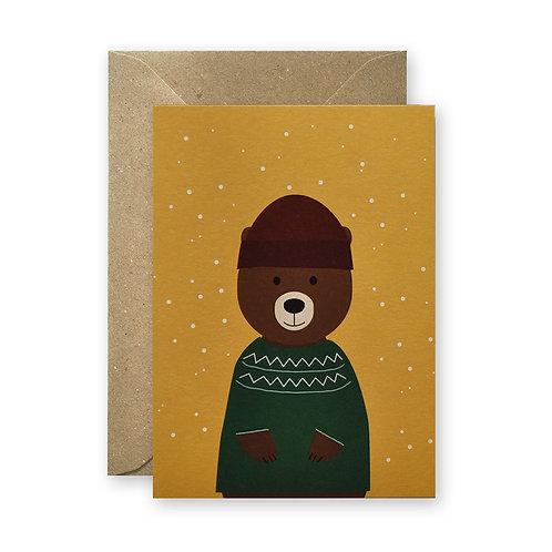 Postkarte – Winterbär