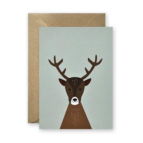 Postkarte - Hirsch