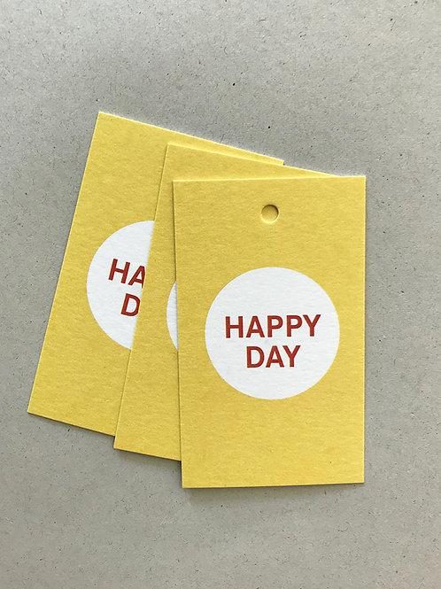 Paketanhänger – HAPPY DAY 01