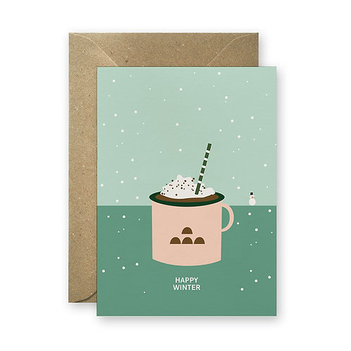 Postkarte - Happy Winter