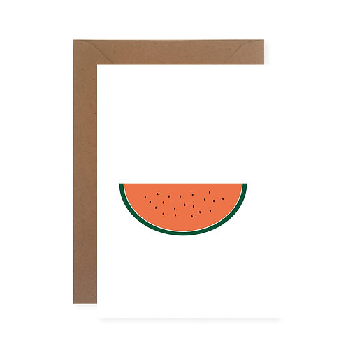 Klappkarte - Melone