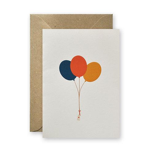 Klappkarte - Luftballons
