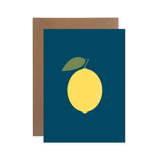 "Postkarte - Zitrone ""blau"""