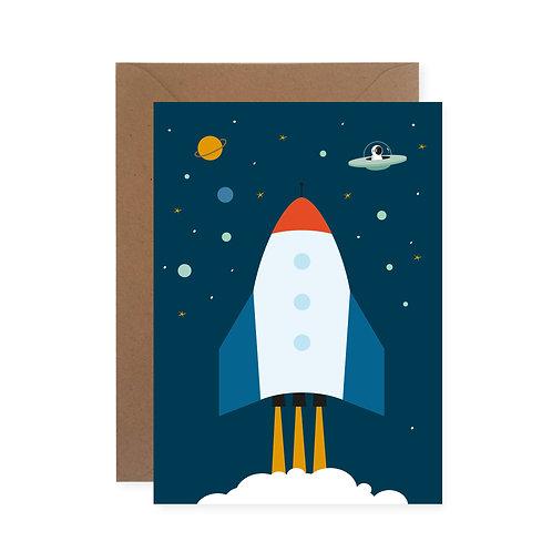 Postkarte - Raumschiff