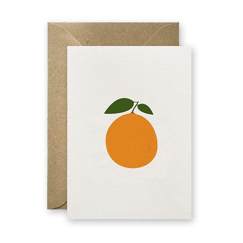 Klappkarte - Orange