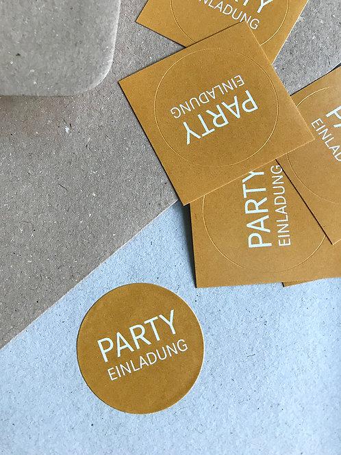 Sticker – Party Einladung