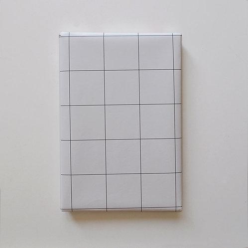 Geschenkpapier - Kariert Weiss