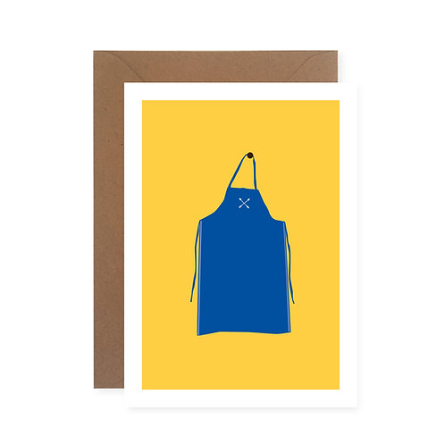 Postkarte - Blauer Schurz
