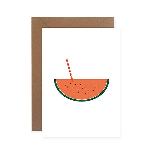 Postkarte - Melonenfrisch