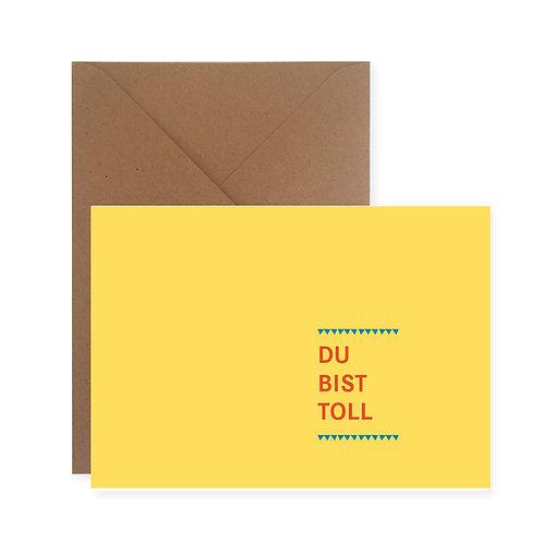 Postkarte - Du bist toll