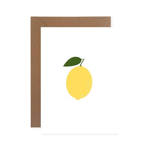 Klappkarte - Zitrone