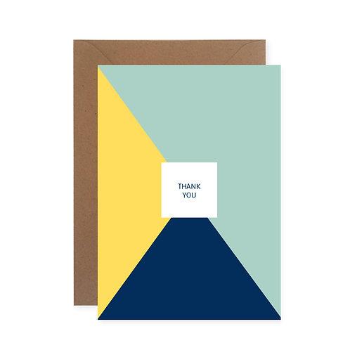 "Postkarte - Dreiecke ""Thank you"""