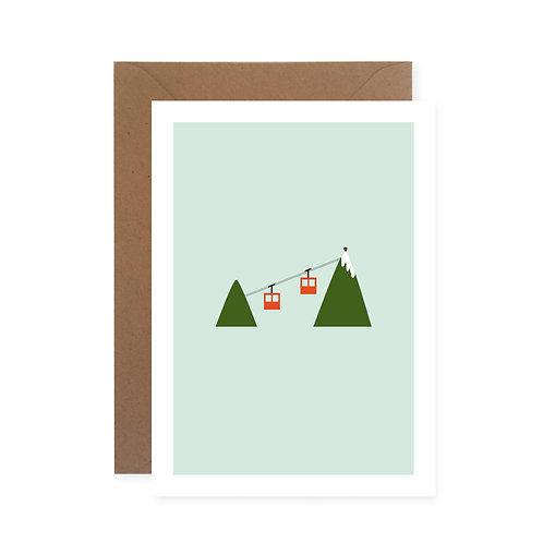 Postkarte - Seilbahn