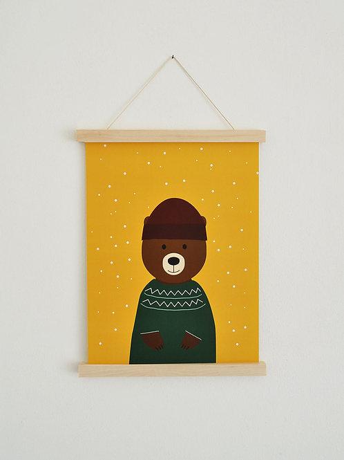 Poster - Winterbär