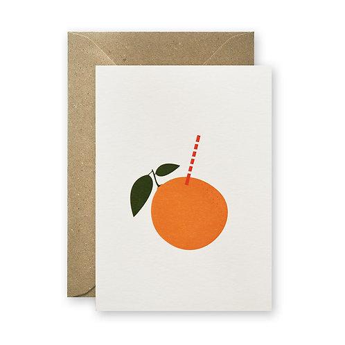 Postkarte – Orangenfrisch