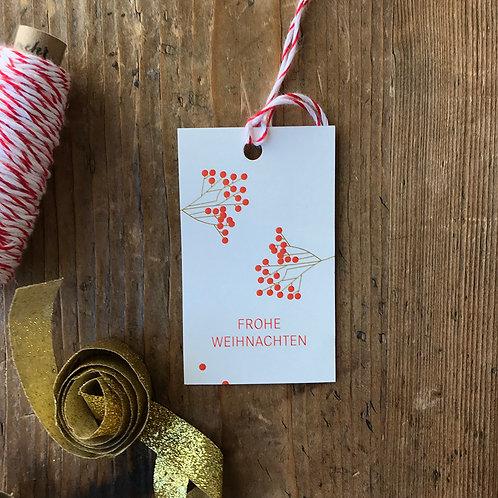 Paketanhänger – Frohe Weihnachten