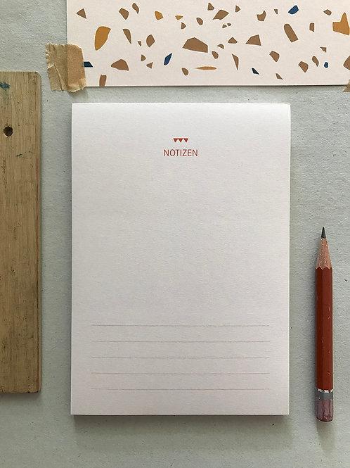 Notizblock - Linien