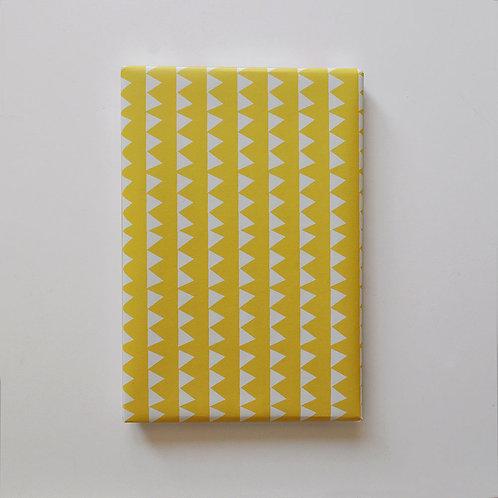 Geschenkpapier - Girlanden Gelb