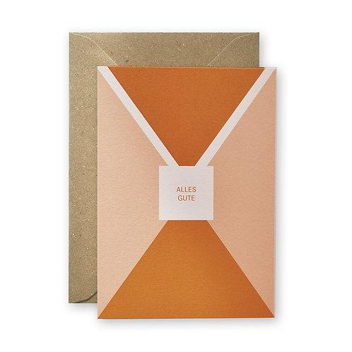"""Postkarte - Dreiecke """"Alles Gute"""""""