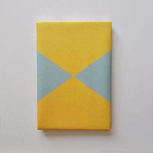 Geschenkpapier - Mint-Gelb-Blau