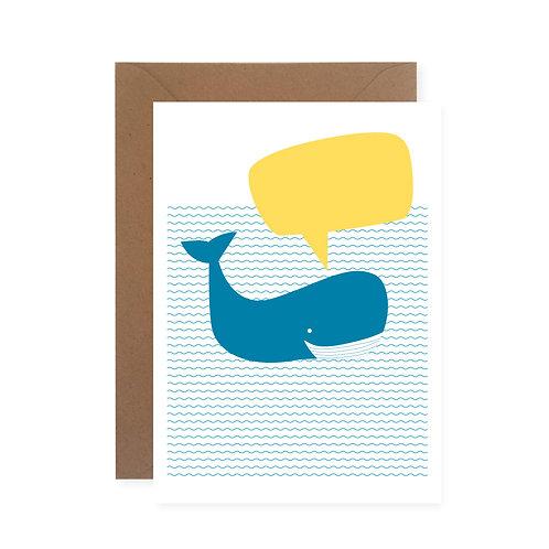 Postkarte - Wal