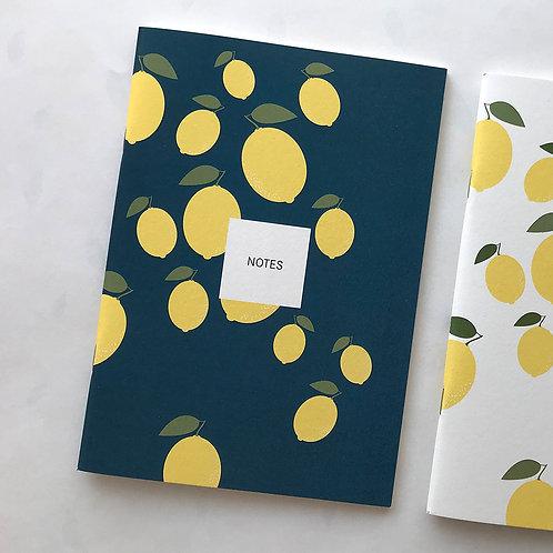 Notes - Zitrone blau