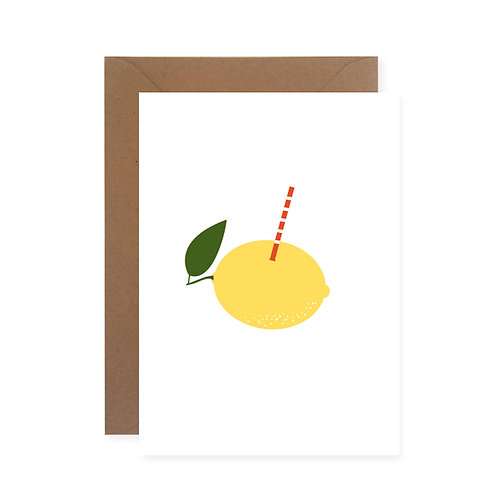 Postkarte - Zitronenfrisch