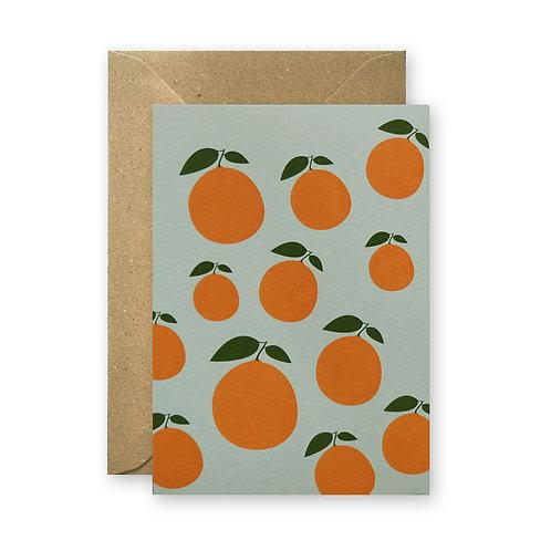 Postkarte – Orangen