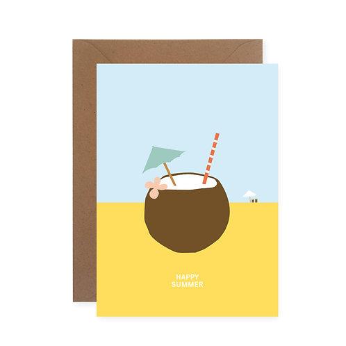 Postkarte - Happy Summer